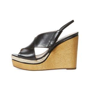 Diane von Furstenberg Gladys Wooden Wedge Sandal